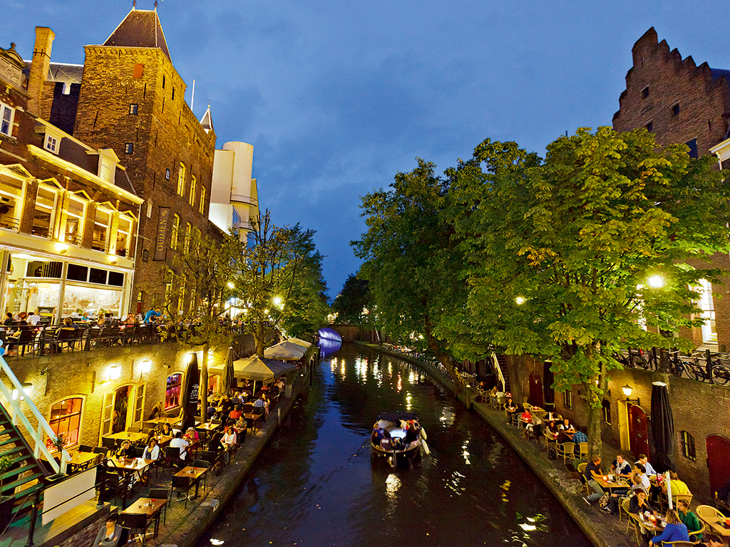 The Oudegracht (or 'old canal') runs through the centre of Utrecht. It is just one of the landmarks in the innovative and historic city © Jurjen Drenth