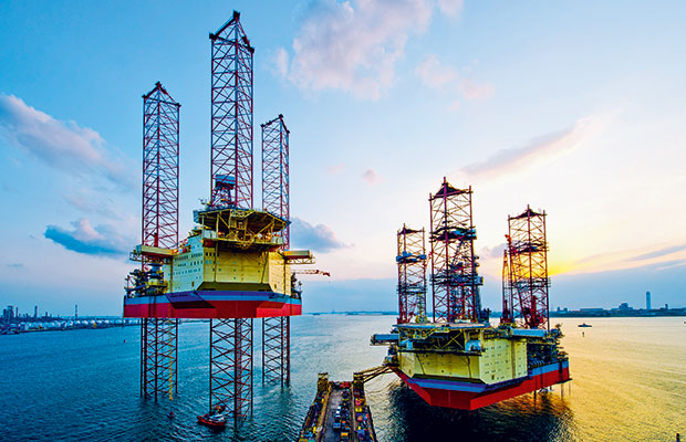 Maersk Intrepid Next To One Of Its Three Sister Rigs Has Unveiled Two New Ultra Deepwater Drillships In The Last Year As