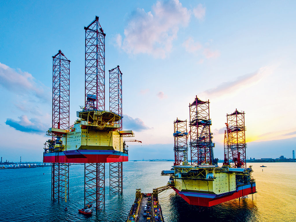 Offshore Oil Rig : Offshore drilling booms as companies explore new frontiers