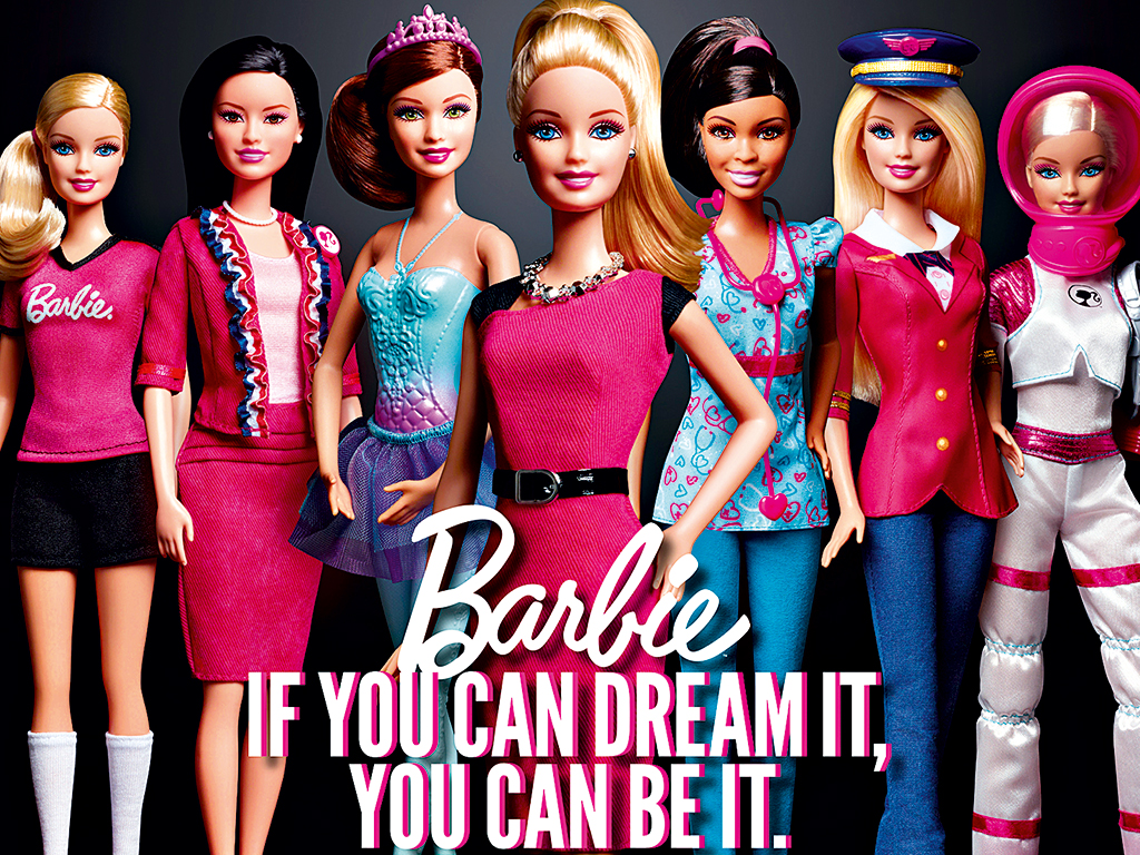 Modern Barbie products attempt to link the character to female agency