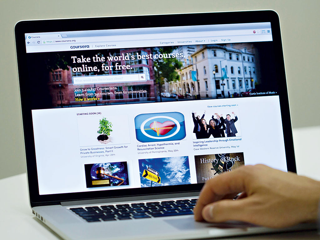 Online learning platform Coursera shakes up the face of