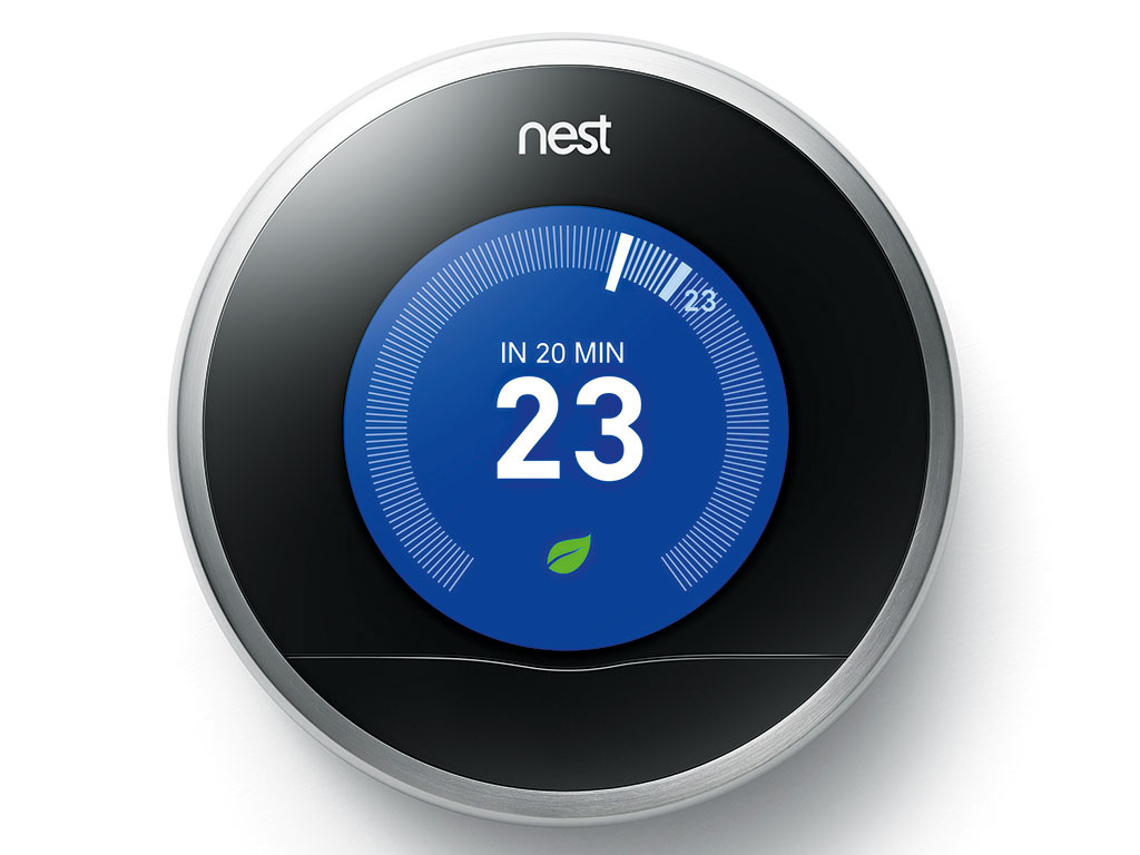 Nest's Learning Thermostat memorises the user's patterns and sets the temperature accordingly