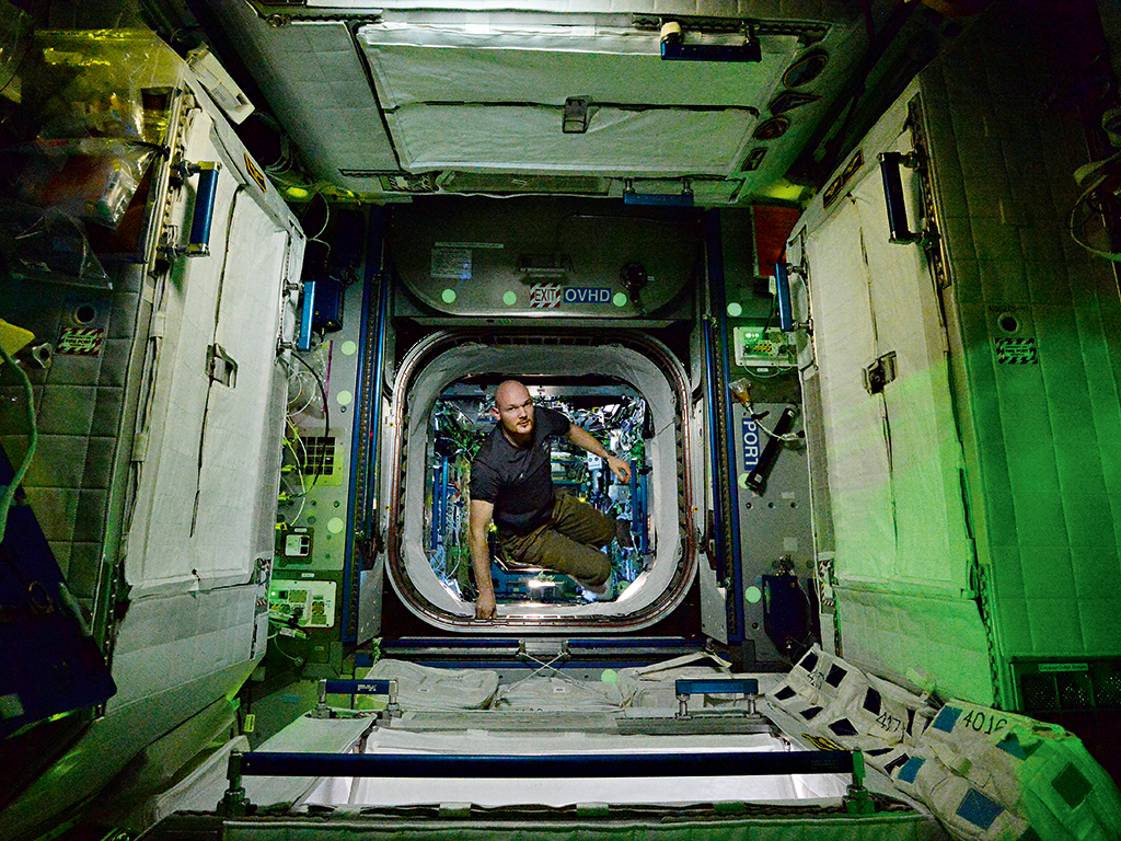 Alexander Gerst, here seen aboard the ISS, was one of the astronauts studied as part of the Skin B project