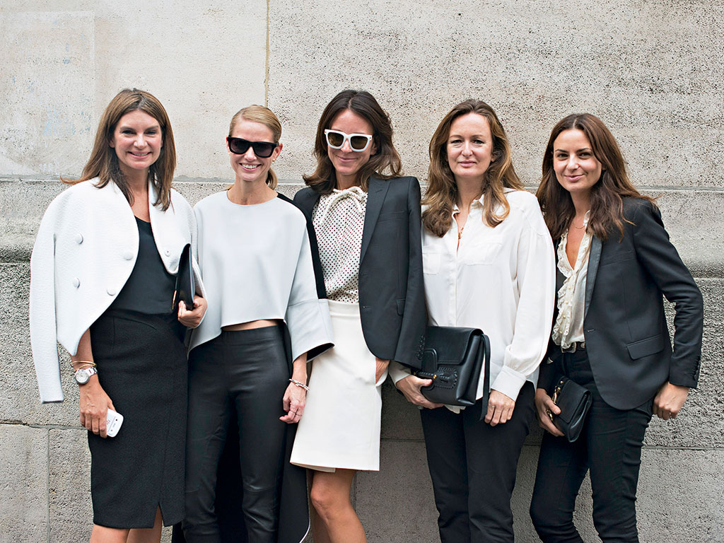 Net-a-Porter founder Natalie Massenet (l) and colleagues. The company has merged with Yoox to form an online luxury goods behemoth