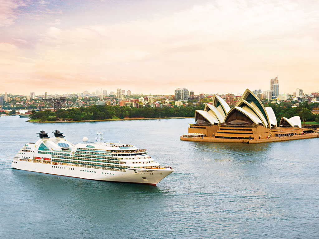 The Carnival Corporation ship Seabourn Odyssey in Sydney Harbor