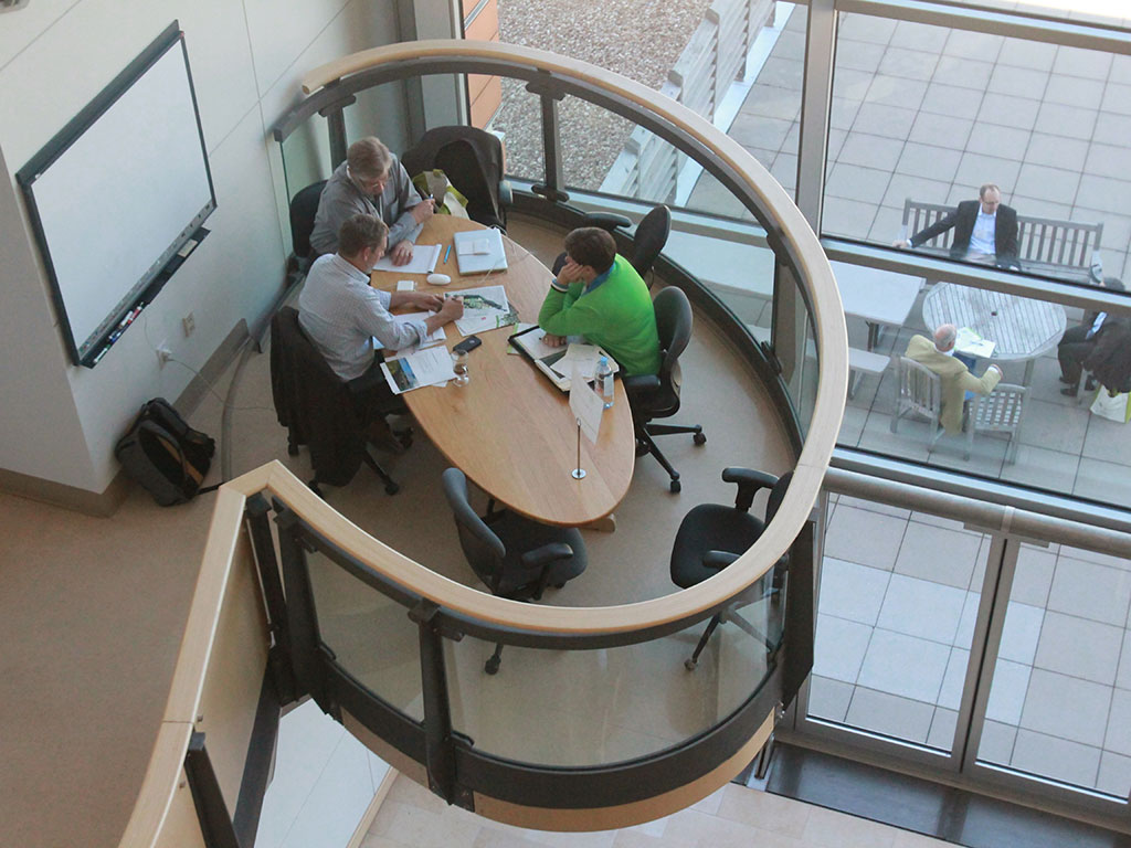 380 meetings were scheduled at the Danforth Center's designated meeting spaces