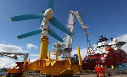 The first turbine for the MeyGen tidal stream project has been unveiled in Scotland marking the start of the ambitious development