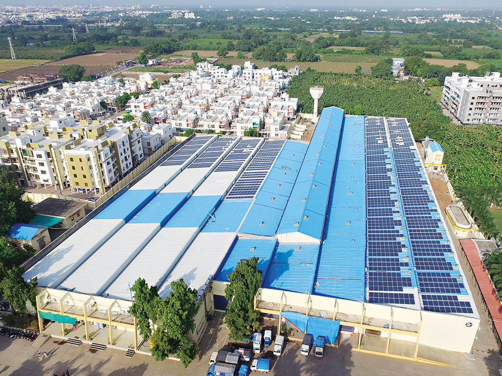 India's sizeable off-grid population is reliant on fossil fuels. By bringing solar power to industrial operators, Madhav aims to cause a trickle-down effect, helping households go green