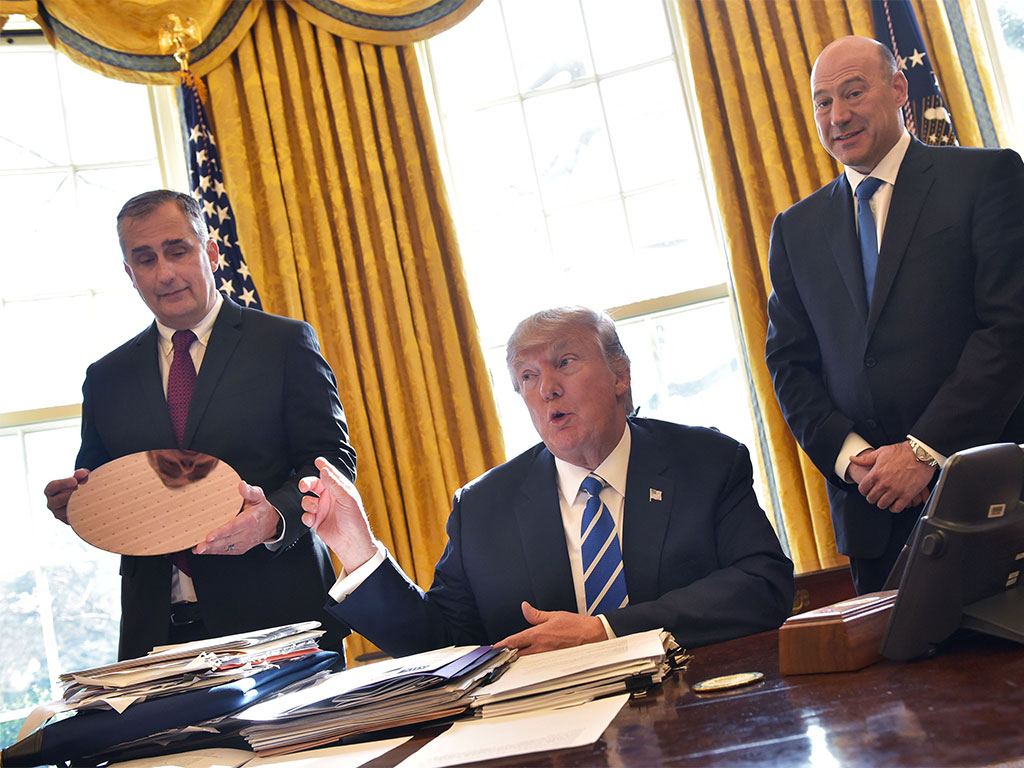 Intel CEO thanks Trump during announcement of $7bn investment plans to resume construction of Arizona factory
