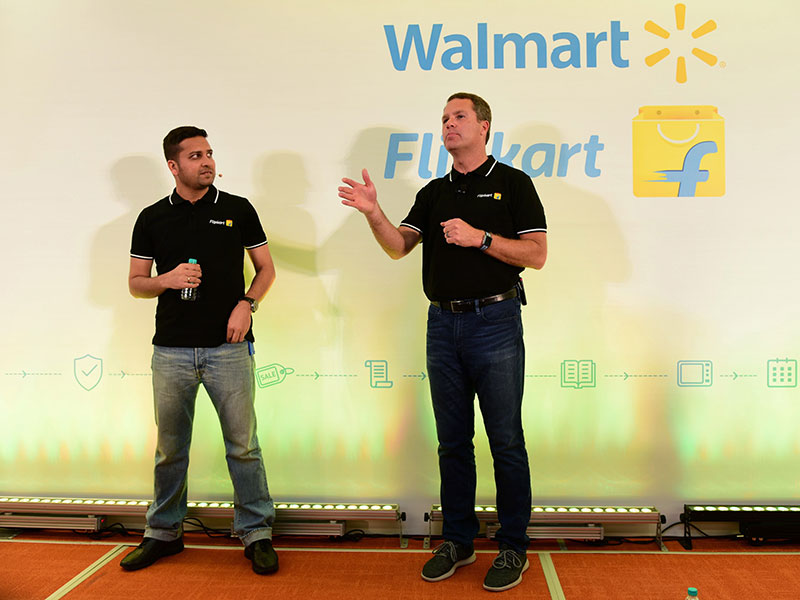 Walmart has struck a deal to acquire 77 percent of Indian e-commerce leader Flipkart for $16bn, as Flipkart continues to battle Amazon for market dominance