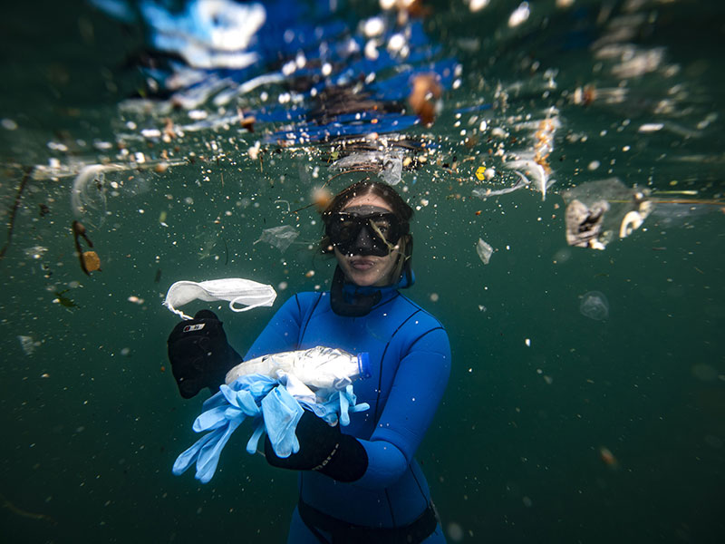 The pandemic has seen a surge in single-use plastics, with disposable masks, gloves and other PPE equipment ceaselessly washing up on beaches across the globe. If we act now to tackle the urgent issue of plastic pollution, this could be a pivotal moment in the fight for cleaner oceans, writes Howard Angel, marine ecologist